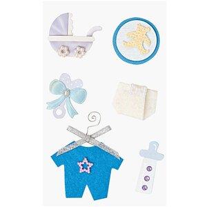 Paper Poetry Maxi 3D Sticker zur Geburt blau