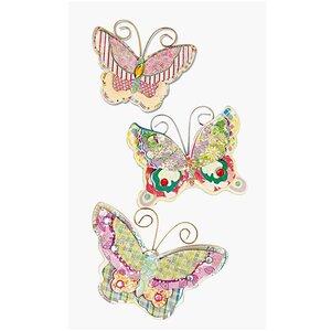 Paper Poetry 3D Sticker Schmetterlinge gemustert