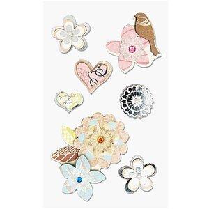 Paper Poetry 3D Sticker Blüten mit Vogel