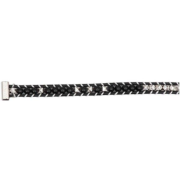 Rico Design Perlenband schwarz-silber XS/S 10x160mm