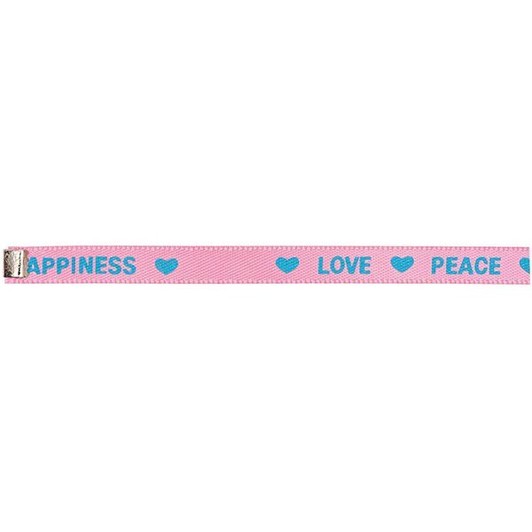Rico Design Webband bedruckt pink-blau M/L 5x180 mm
