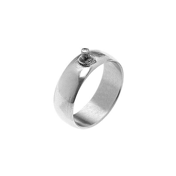 Rico Design Ring breit 19mm Schraubgewinde silber