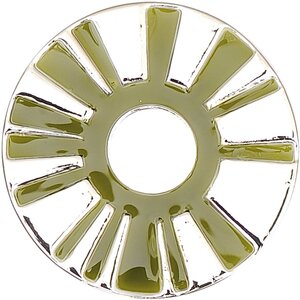 Rico Design Scheibe Strahlen silber-grün 30mm