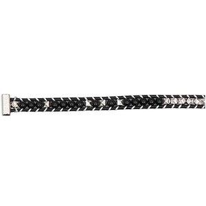 Rico Design Perlenband schwarz-silber M/L 10x180mm