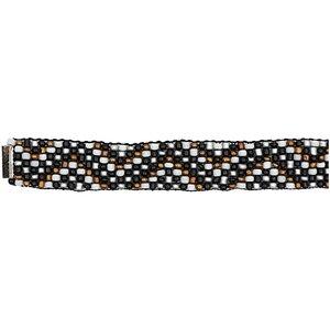 Rico Design Rocaillesband schwarz-silber XS/S 10x160mm