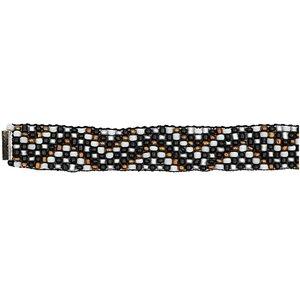 Rico Design Rocaillesband schwarz-silber M/L 10x180mm