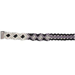Rico Design Freundschaftsband geflochten grau-schwarz XS/S 10x160 mm