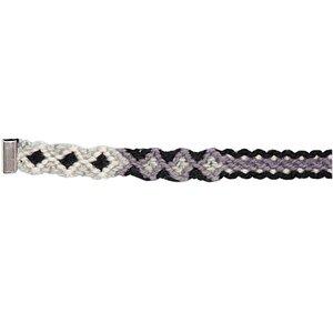 Rico Design Freundschaftsband geflochten grau-schwarz M/L 10x180 mm