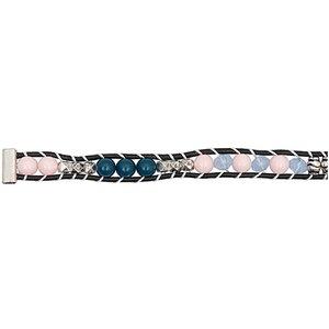 Rico Design Perlenband rosa-hellblau-silber XS/S 10x160mm