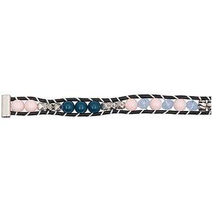 Rico Design Perlenband rosa-hellblau-silber M/L 10x180mm