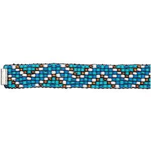 Rico Design Rocaillesband blau-türkis M/L 10x180 mm