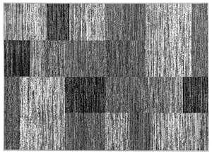 "Bella Casa Teppichläufer ""Shiraz"", ca. 70 x 130 cm - Karo Anthrazit"