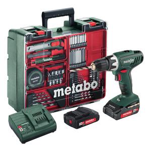Metabo Akku-Bohrschrauber 'Mobile Werkstatt BS 18 V' inkl. 2 Akkus, Ladegerät und Koffer