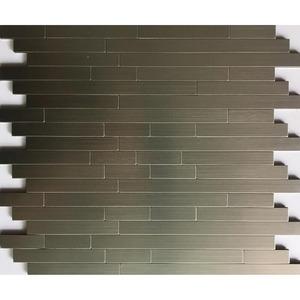 Mosaikfliese 'Easyglue' silber 30 x 30 cm