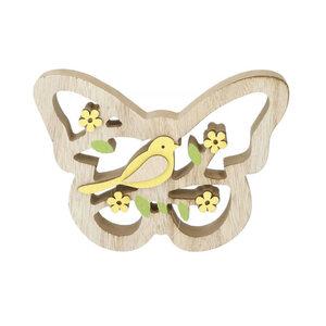 Holzdeko Schmetterling 16 x 11,5 cm