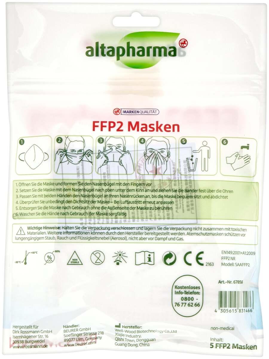 Bild 2 von altapharma FFP 2 Masken