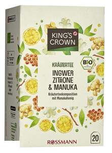 King's Crown Bio Kräutertee Ingwer, Zitrone & Manuka