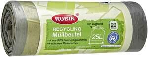 RUBIN Recycling-Müllbeutel mit Zugband 25 Liter