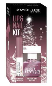 Maybelline New York X-Mas Set Super Stay Ink Crayon Nr. 25 + Super Stay 7 Days Nr. 255 Nagellack