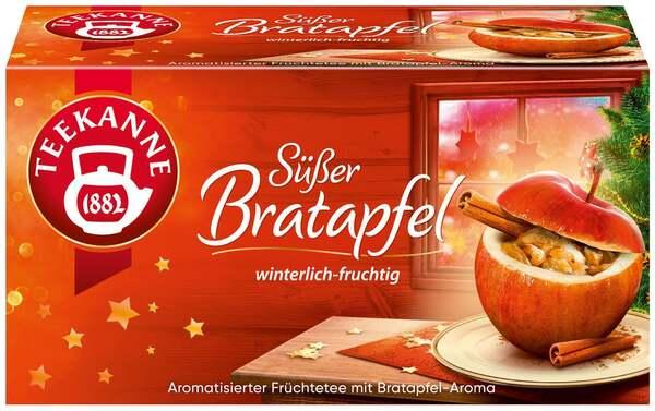 Teekanne Früchtetee Süßer Bratapfel