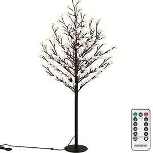 Deuba Kirschblütenbaum LED 220cm Fernbedienung, Weiß