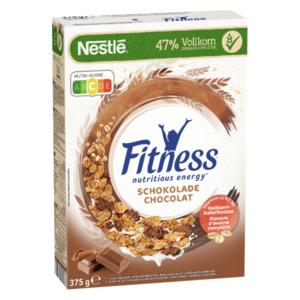 Nestlé Fitness Chocolat Frühstückscerealien mit Vollkorn teilweise überzogen mit Schokolade 375g