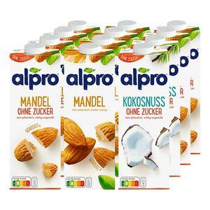 Alpro Drink 1 Liter, verschiedene Sorten, 12er Pack