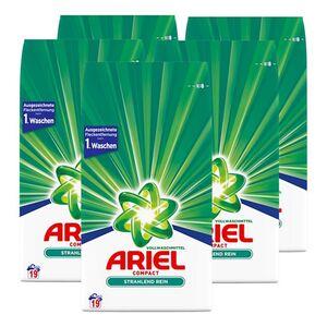 Ariel Vollwaschmittel Pulver 19 Waschladungen, 5er Pack