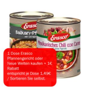 """Erasco Pfannen- oder Fertiggerichte """"Neue Welten"""""""