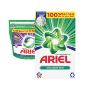 Ariel Waschmittel Pulver, Flüssig oder Pods