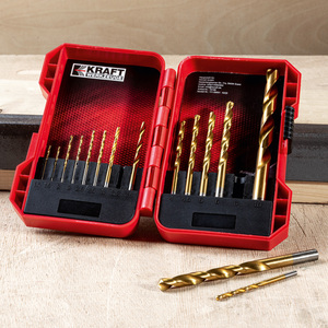 Kraft Werkzeuge HSS Spiralbohrer-Set 15tlg.