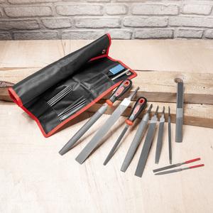 Kraft Werkzeuge Feilen- und Raspelsatz in Rolltasche 23tlg.