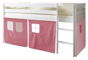 Spielbett in Rosa/Weiß/ Hellrosa ´807212 MALTE´