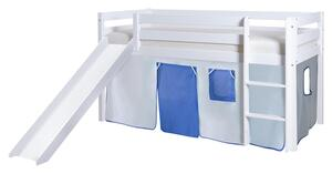 Spielbett in Weiß/Hellblau/ Dunkelblau ´806031 MANUEL´