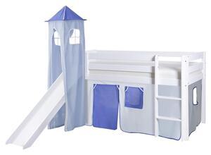 Spielbett in Weiß/Hellblau/ Dunkelblau ´808868 KASPER´