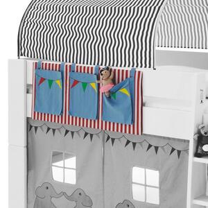 Carryhome Betttasche blau, gelb, grün, rot, weiß , FOR Kids , Textil , 3 Fächer , 39x93x1 cm , 000230000146