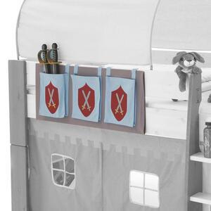 Carryhome Betttasche rot, hellblau , FOR Kids , Textil , 3 Fächer , 39x93x1 cm , 000230000144