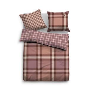 Tom Tailor Bettwäsche orange, rosa, dunkelrot 155/220 cm , 69917 , Textil , Karo , 155x220 cm , 003336031801