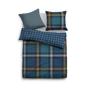 Tom Tailor Bettwäsche blau, petrol 155/220 cm , 69917 , Textil , Karo , 155x220 cm , 003336031802