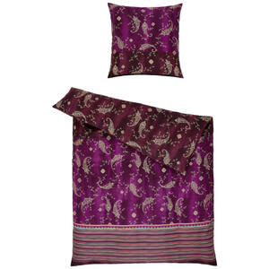 Bassetti Bettwäsche violett , 9311506 Gradara , Textil , Ornament , 155x220 cm , pflegeleicht, bügelleicht , 005639062105
