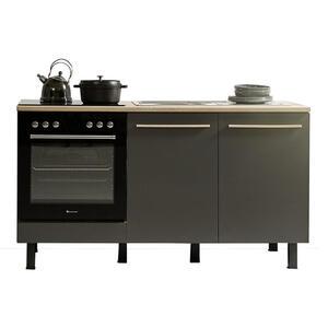 Xora Küchenleerblock , Bilberry Küche 160 , Anthrazit, Sonoma Eiche , 160 cm , 001279004101