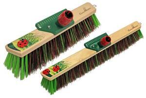 Gartenbesen 55 mm / 60 cm, Supermix-Borsten grün mit 2 teiligem Stiel