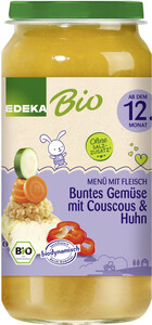 EDEKA Bio Gemüse mit Couscous & Huhn ab dem 12.Monat 250G