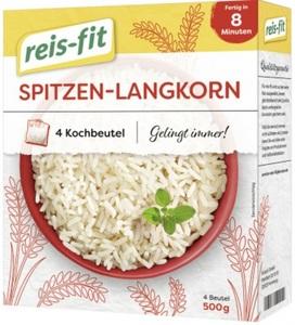 Reis-Fit Spitzen-Langkorn Reis im Kochbeutel 8-10 Minuten 4x 125 g