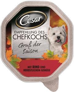 Cesar Empfehlung des Chefkochs Gruß der Saison Hundefutter nass 150 g