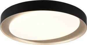 Reality Leuchten LED Deckenleuchte Zeta ,  CCT, dimmbar, Fernbedienung, Ø 48 cm, schwarz gold