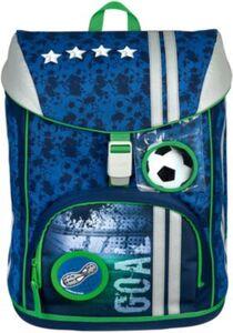 Schulrucksackset FlexMax Football, 5-tlg. (2019/2021) blau/grün