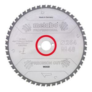 Metabo Kreissägeblatt HW/CT 315 x 30 x 2,8/1,8 Zähnezahl 48 Wechselzahn Spanwinkel 0°