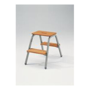 Günzburger Stahl-Holz-Tritt 2 Stufen