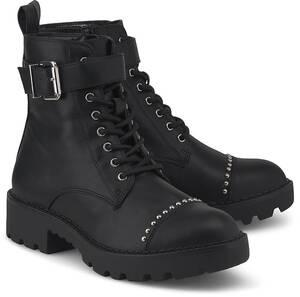 Buffalo, Schnür-Boots Finch in schwarz, Boots für Damen